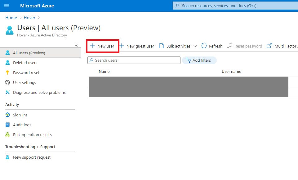 Switch Azure AD tenant and create user Step 5